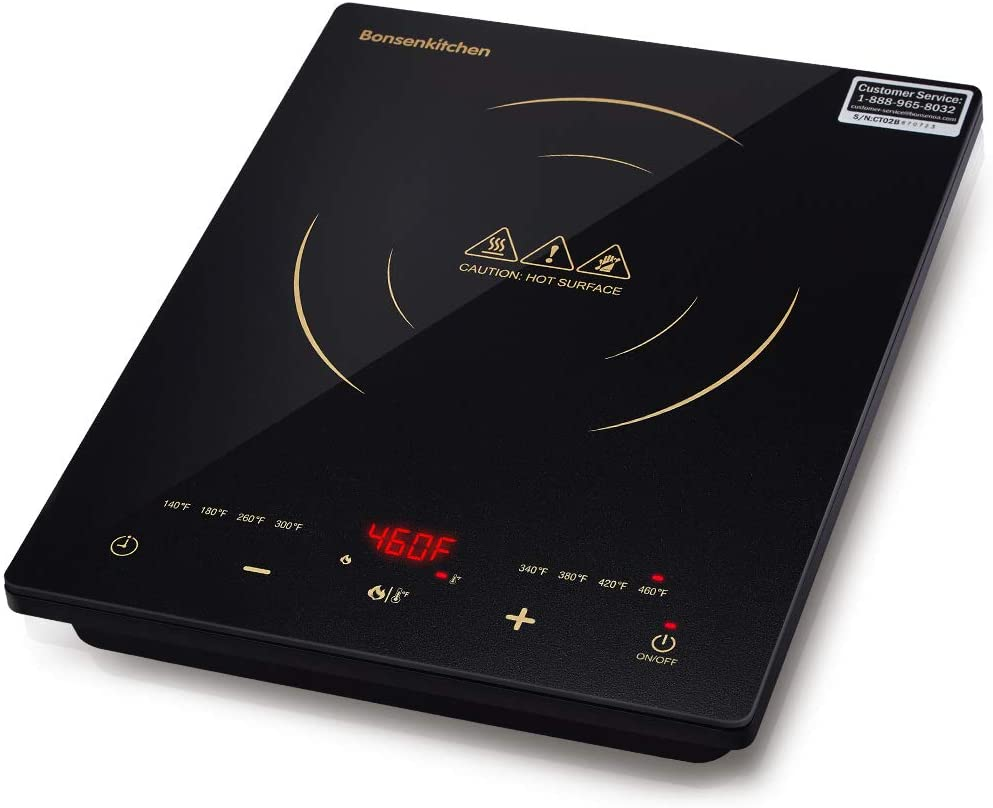 Bonsenkitchen Portable Cooktop Induction with LED Screen