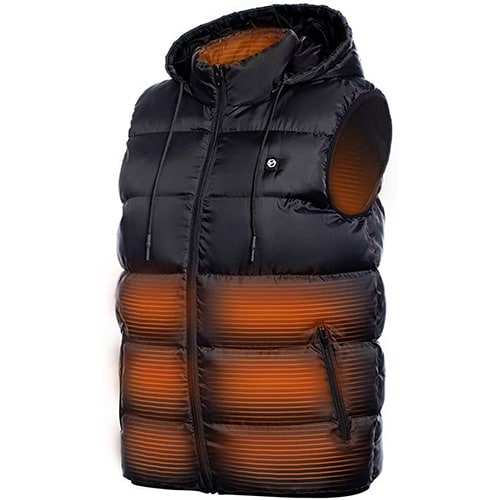 Foxelli - Lightweight USB Rechargeable Heated Vest for Men